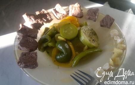 Рецепт Отварная говядина ( тающая нежность и нечеловеческая острота ) и овощи баланс