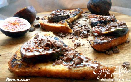 Рецепт Французские тосты с инжиром, шоколадом и медом