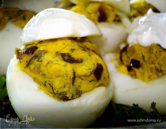 Яйца, фаршированные грибами «Белорусский напев»