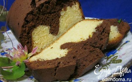 Рецепт кекс ЧЕРНОЕ-БЕЛОЕ из хлебопечки в хлебопечке