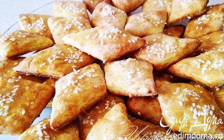 Рецепт Сырные ромбики с кунжутом