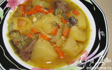 Рецепт Жиденькое жаркое с говядиной
