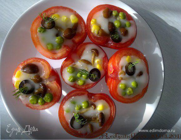 Заливные помидоры с грибами