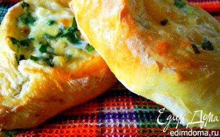 Рецепт Открытые пирожки с сыром и зеленью