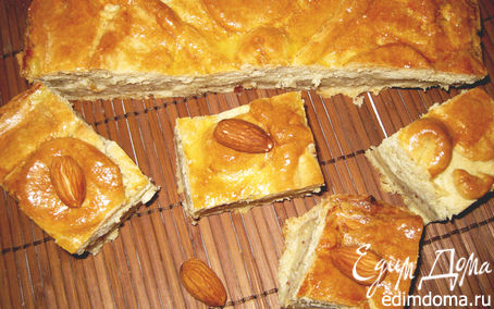Рецепт Бакский пирог с заварным кремом и миндалем