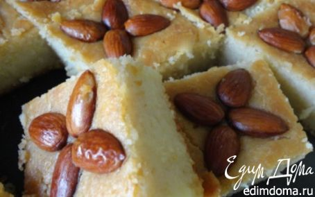 Рецепт Десерт из манки с миндалeм