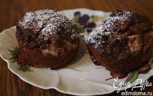 Рецепт Шоколадные кексы с грушей