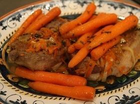 Свинина с карамелизированной морковью