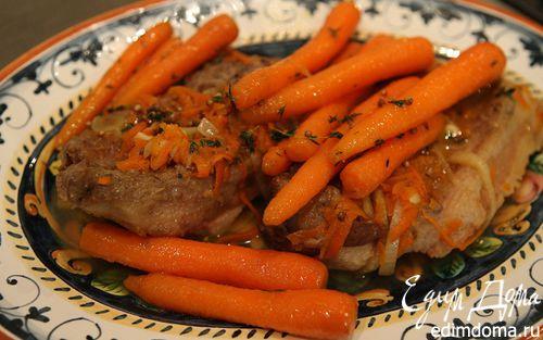 Рецепт Свинина с карамелизированной морковью