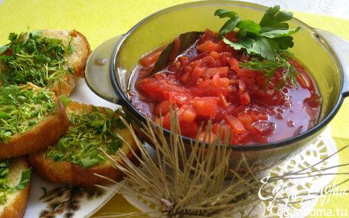 Рецепт Борщ мясопустный