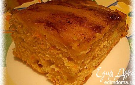 Рецепт Морковно-яблочный кекс с корицей