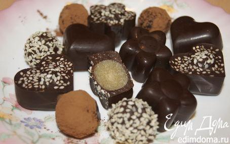 Рецепт Шоколадные конфетки с марципаном