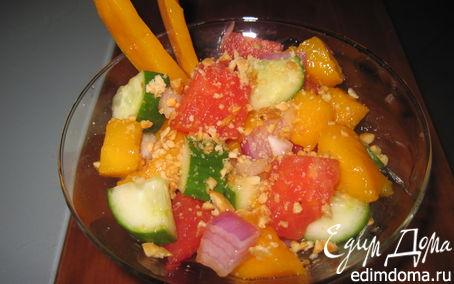 Рецепт Салат-коктейль с манго