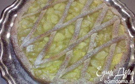 Рецепт Яблочный пирог с творогом