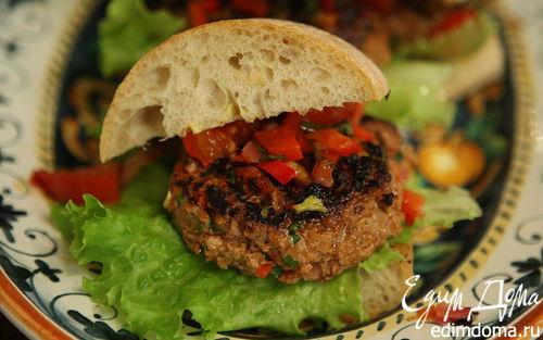 Рецепт Гамбургеры с ягнятиной, сладким перцем и базиликом