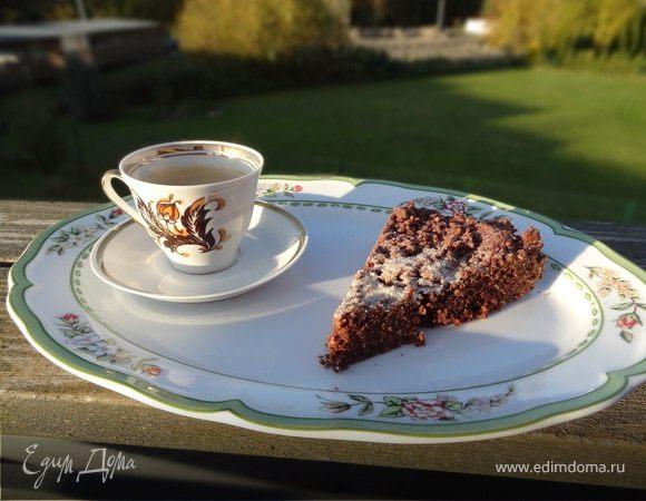 Шоколадно-миндальный пирог