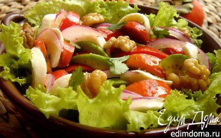 Рецепт Салат овощной с хурмой