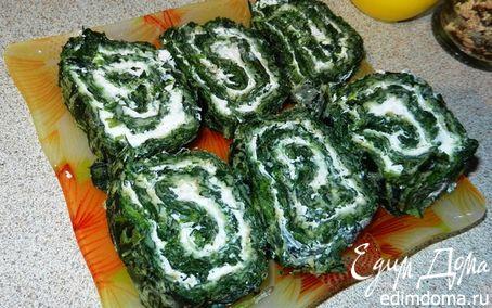 Рецепт Омлет из зелени с мягким сыром