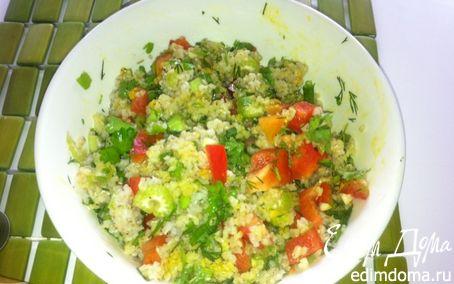 Рецепт Горячий салат с ячневой крупой