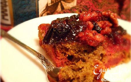 Рецепт Пурпуровый(свекольный) кекс с черносливом и орехами