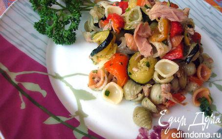 """Рецепт Салат с ракушками """"Nordic"""", овощами и тунцом"""