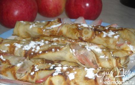 Рецепт Блинчики с яблочным припёком