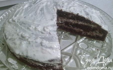 Рецепт Черемуховый торт с грецкими орехами