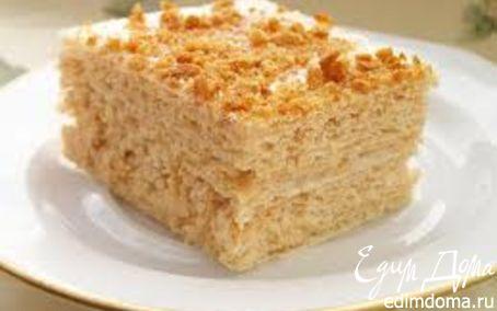 Рецепт Вафельный тортик со сгущенкой