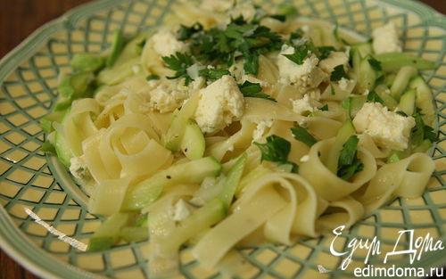 Рецепт Тальятелле с кабачком и голубым сыром