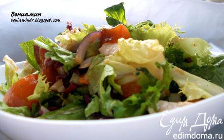 Рецепт Салат с куриным филе и хурмой