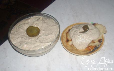 Рецепт Паштет из скумбрии с творогом и солеными огурцами