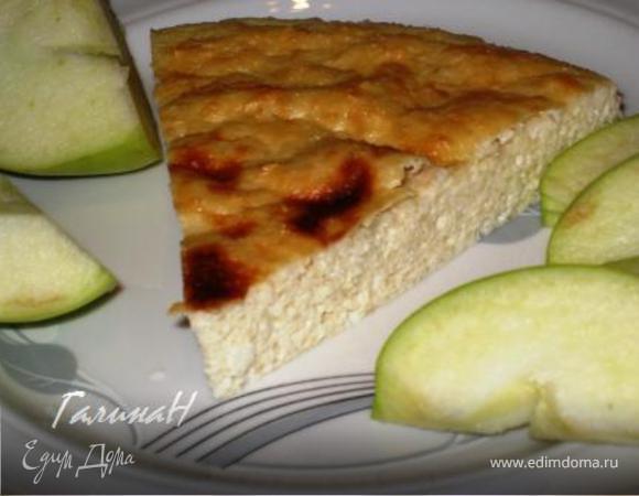 Творожно-яблочная запеканка с кокосом