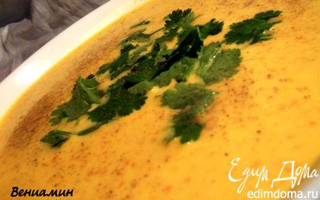Рецепт Чечевично-морковный суп-пюре с карри
