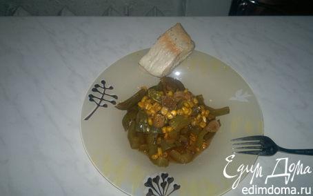 Рецепт Гавайские овощи с фейхоа и отварная рыба.