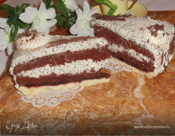 """торт с маковым кремом """"Фантазия"""""""