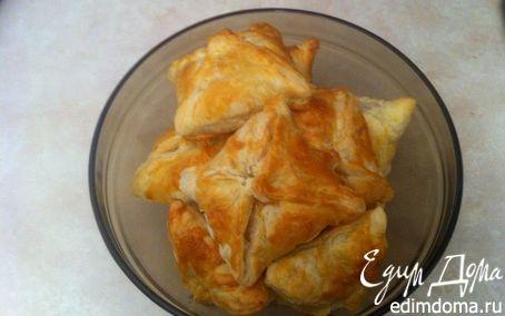 Рецепт Слойки с яблоками медом и орехами