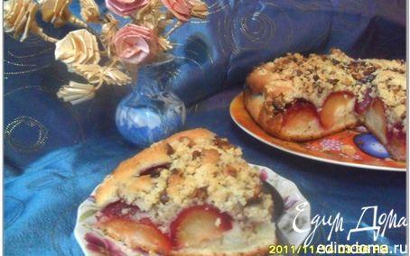 Рецепт Сливовый пирог с ореховым штрейзелем