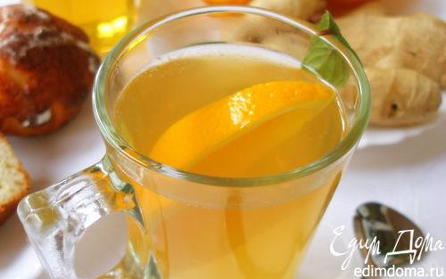 Рецепт Имбирный чай с апельсином