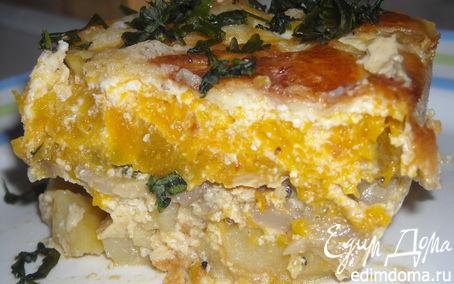 Рецепт Тыквенная запеканка с картофелем и грибами