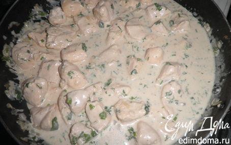 Рецепт Куриное филе в сливочно- сметанном соусе