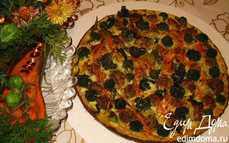 Рецепт Вкусняшка с мясными шариками и брокколи для Черешенки