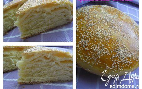 "Рецепт Арабская лепешка ""Bint Al-sahn"""