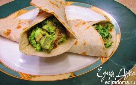 Рецепт Тортильи с мясом и гуакамоле