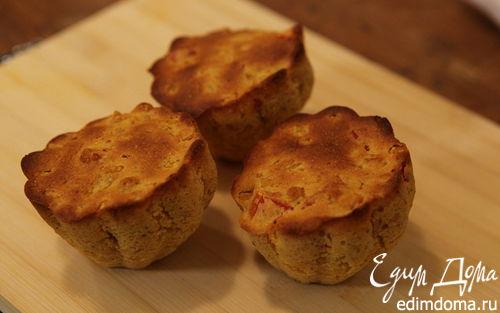 Рецепт Маффины с кукурузой и красным перцем