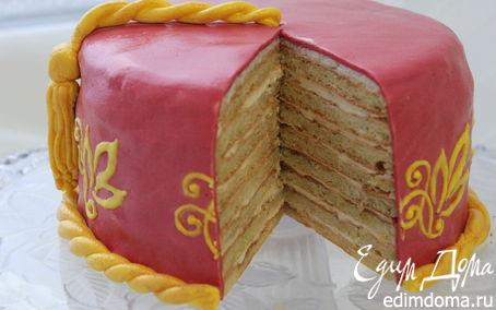 Рецепт Творожно-цитрусовый торт