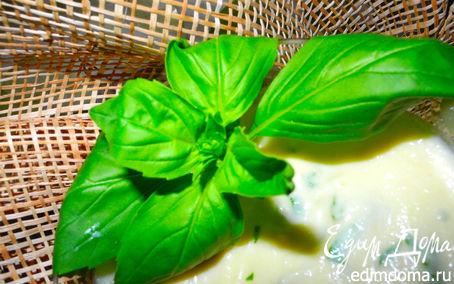 Рецепт Нежный десертный крем из яблок с базиликом и кардамоном