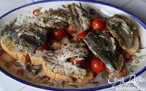 Рецепт Бутерброд с сардинками и помидорами