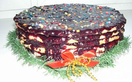 Рецепт Teskoma.Простой,но в тоже время вкусный пирог с Новогодней ноткой!!!