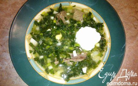 Рецепт Зеленый борщ - рецепт из детства (повтор)