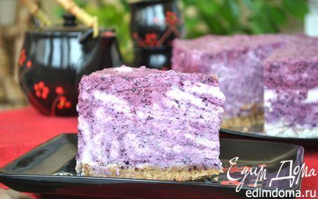 Рецепт Творожно-черничный торт